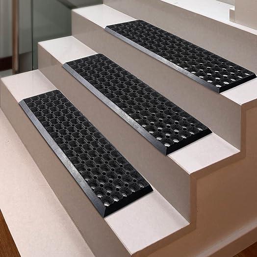 Etm Set Of 5 Rubber Stair Tread Mats
