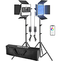 Neewer 2 Packs 660 RGB Led Light with APP Control, Photography Video Lighting Kit with Stands and Bag, 660 SMD LEDs…