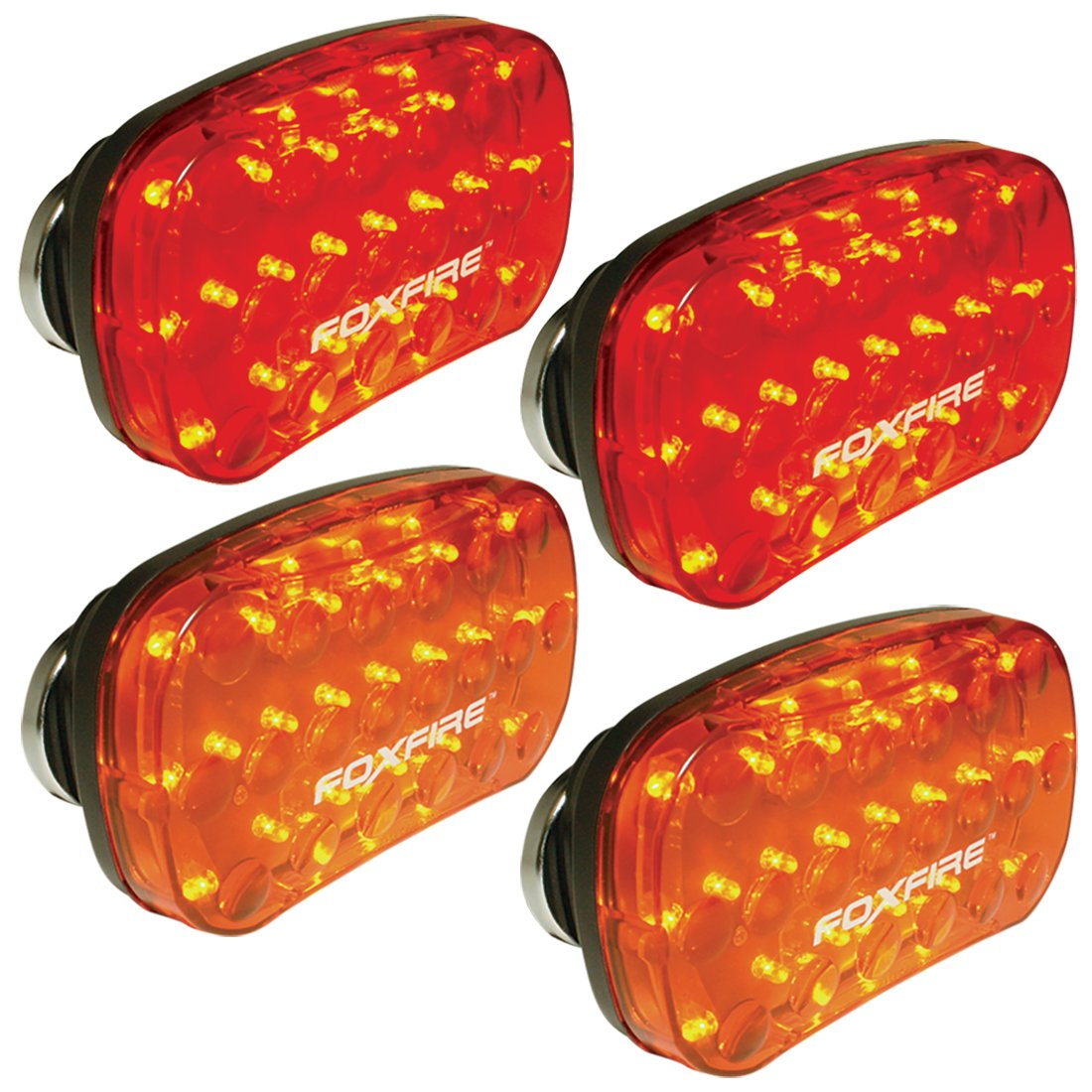 Set of 4 FoxFire LED Lights (2 red, 2 amber)