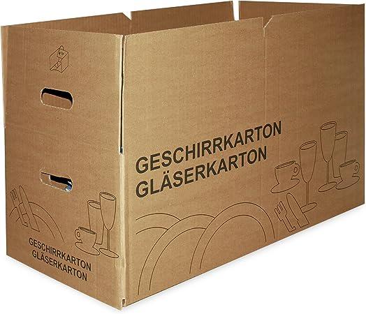 12 x vasos de cartón cajas de cartón para las cajas de botellas 2-ondulación 16 compartimentos + espacio para platos/ollas: Amazon.es: Hogar