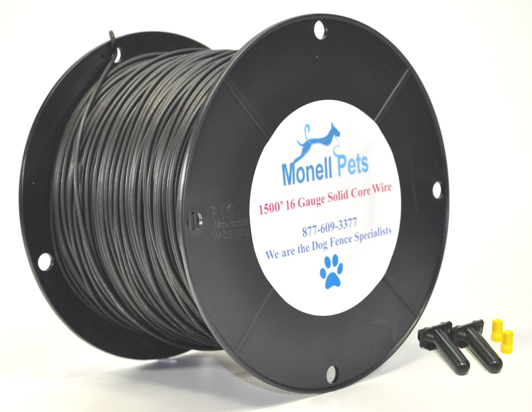 16 Gauge Heavy Duty Superior Pro Dog Fence Wire 1500 Ft Continuous Wire by Monell Pets