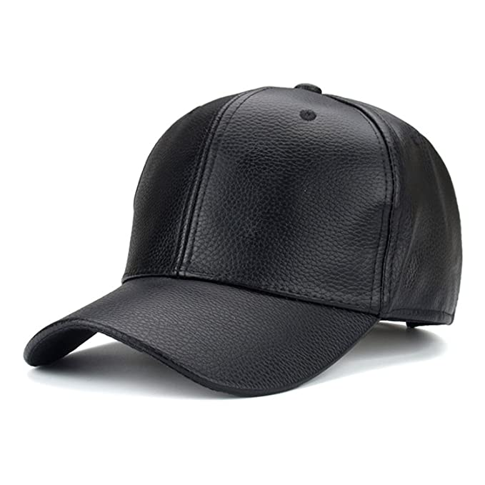 SHUNVFAN Chic PU Leather Baseball Cap Hip Hop Caps gorras Snapback Hat Biker Trucker For Men