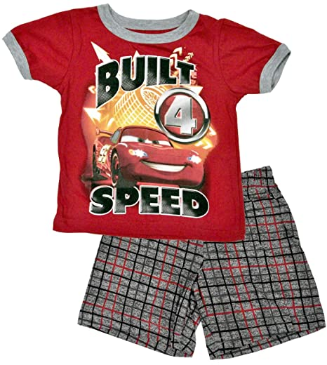 Disney-Pixar Cars Lightning McQueen Built for Speed T-Shirt   Shorts  Toddler Set 415a37555