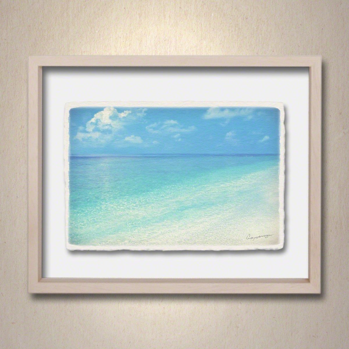 和紙 アートフレーム 「珊瑚礁の波打際」 (64x52cm) 海 絵 絵画 壁掛け 壁飾り 額縁 インテリア アート B074ZJR9TN 25.アートフレーム(長辺64cm) 120000円 珊瑚礁の波打際 珊瑚礁の波打際 25.アートフレーム(長辺64cm) 120000円