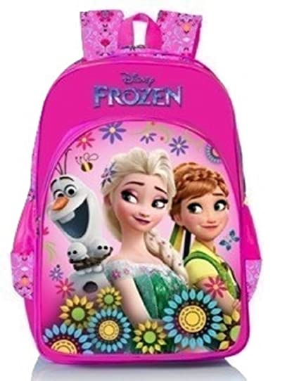 817fdb23f40a Disney Frozen Floral Pink School Bag 18 inch  Amazon.in  Bags ...