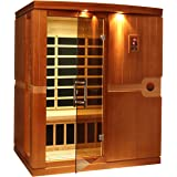 DYNAMIC SAUNAS AMZ-DYN-6310-01 Madrid 3-Person Far Infrared Sauna - Curbside Delivery