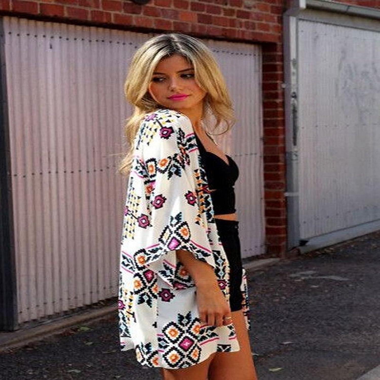 Bocideal Women's Chiffon Shawl Kimono Cardigan Tops: Amazon.co.uk ...
