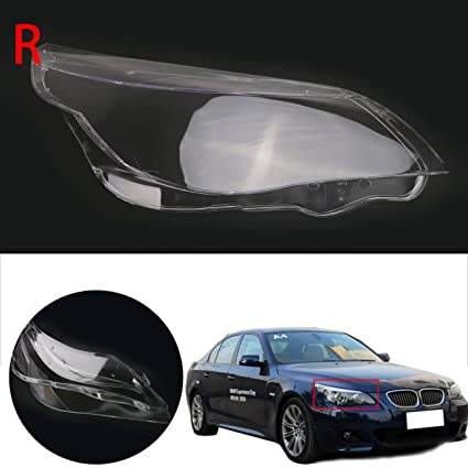 Amazon.com: Right side Headlight lens cover / Front Headlamp PC Cover For BMW 5 Serice E60 E61: Automotive