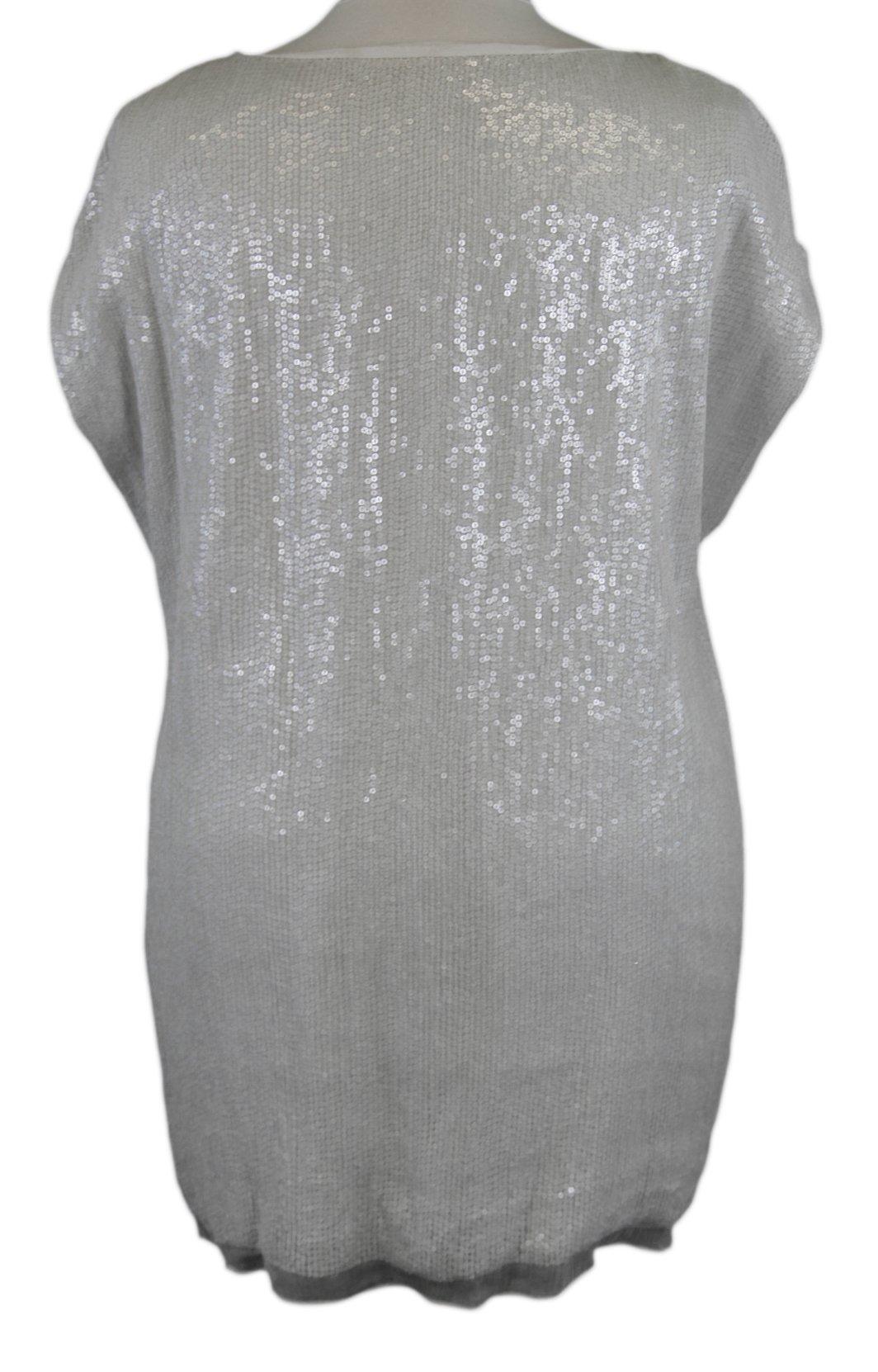 MARINA RINALDI by MaxMara Farsi Cream Sequin Embellished Top 18W / 27 by Marina Rinaldi by Max Mara (Image #2)