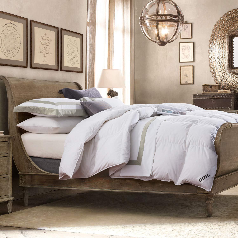 Umi. Essentials – Decke mit weißen Gänsefedern und -daunen und reinem, daunendichtem Baumwollgewebe (10,5 tog, Super-KingGröße)