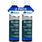 Trace Minerals – 40,000 Volts! (8oz)   Liquid Electrolyte Concentrate Drops   Relief of Dehydration, Leg & Muscle Cramps   En