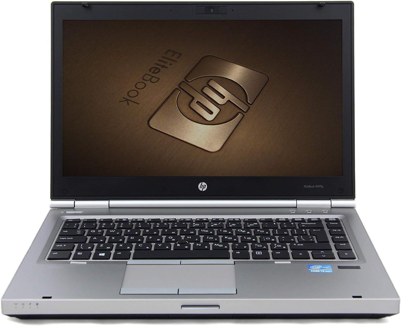 HP EliteBook 8470p Laptop, Intel Quad Core i7 3740QM 2.7GHz, Windows 10 Pro 64-bit, 8GB DDR3 RAM, 120GB SSD (Solid State Drive), DVD-RW, Anti-Glare HD LED 14 inch Display, WiFi (Renewed)