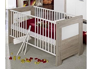 kinderbett babyzimmer moritz dekor eiche sagerau weiss matt