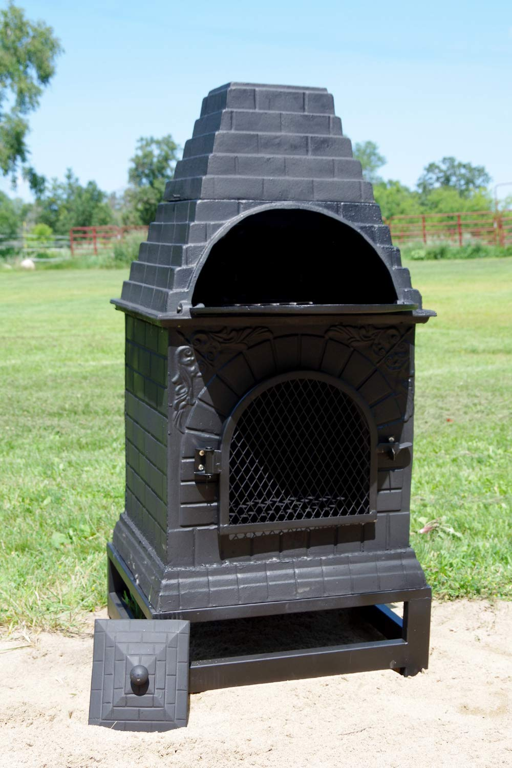 Amazon.com: The Blue Rooster Co. chimenea de hierro fundido ...