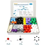 SIMPZIA Chemistry Molecular Model 240 Pieces Inorganic Chemistry Model Kit that with 153 Bonds,86 Atoms,And a Removal Tool for Home Science tools Advanced Chemistry kit