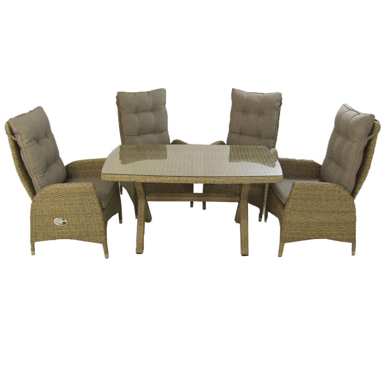 Edenjardi Conjunto Muebles Exterior | Mesa 140x80 cm y 4 ...