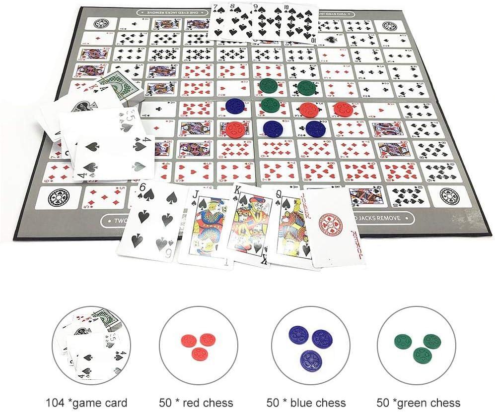 Huaqiang Deluxe Sequence Tin (trilingüe) Versión Familiar Juego de Mesa, Juego de Tablero Big Chess Juego de Secuencia en inglés y árabe Juego de ajedrez Juego Familiar Juguete: Amazon.es: Hogar