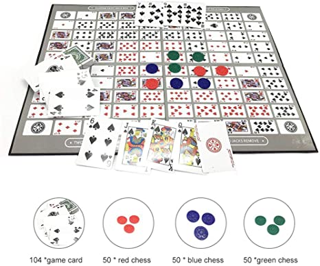 Juegos De Tablero, Sequence Game Party Game Big Chess Board Game English And Arabic Sequence Board Game Chess Family Game Toy Juegos de mesa: Amazon.es: Bebé