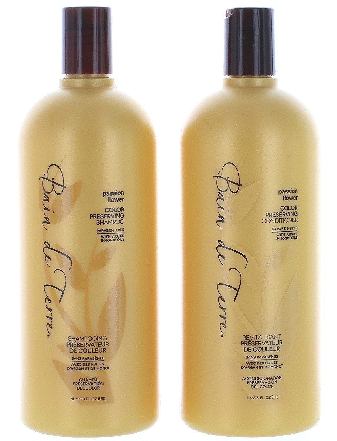 Bain de Terre Passion Flower Color Preserving Shampoo and Conditioner 33.8 Ounce by Bain de Terre