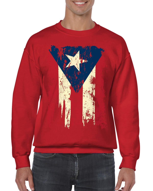 Apparel Vintage Distressed Puerto Rico Crewneck Sweater Shirts