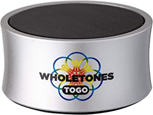 Wholetones to Go (2nd Gen) - Portable Relaxing Music Player with 7 Looping Frequency Enhanced Songs, Timer, Bluetooth, Rechargeable Battery, Hanging Ring
