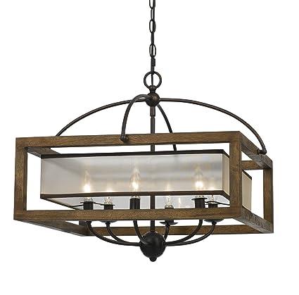 cal lighting fx 3536 6 six light chandelier amazon com