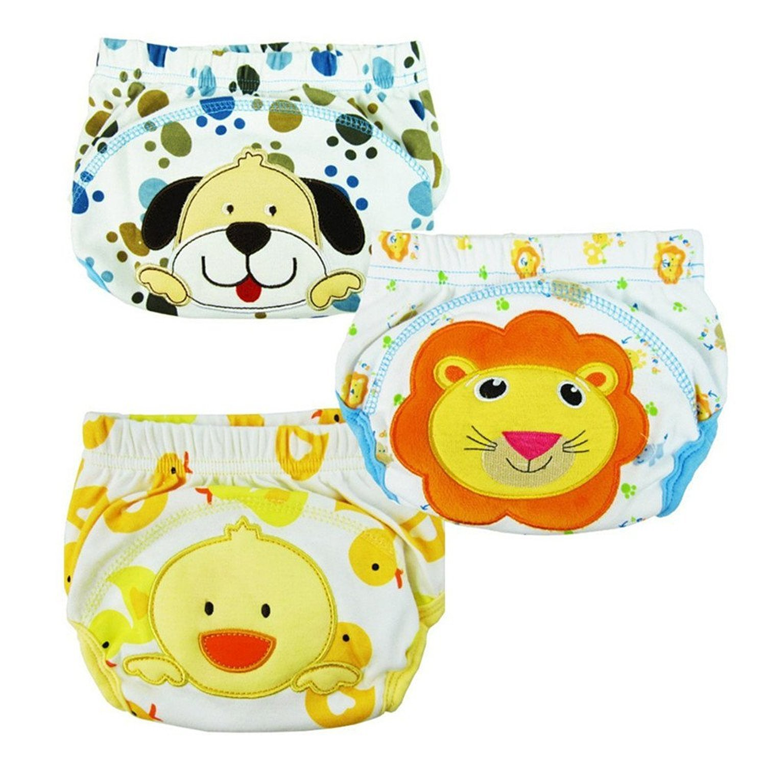 Taiycyxgan 3pcs Baby Kids Potty Training Pants Washable Cloth Diaper Nappy Underwear