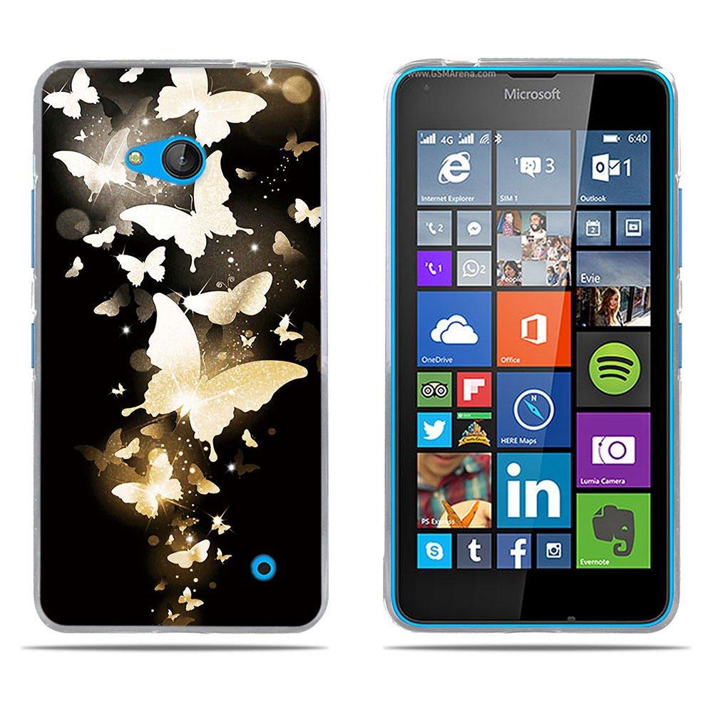 Fubaoda Coque Nokia Lumia 640, [Gouttes d'eau Noire] Ultra Slim TPU Silicone Haute Qualité Téléphone Portable Coque pour Nokia Lumia 640 SB-1001