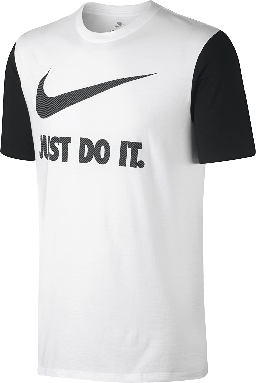 69036018 Nike M Nsw Tee Hrngbn Jdi Swoosh Tee for Man, White (White/Black / White/Cool  Grey), S: Amazon.co.uk: Sports & Outdoors