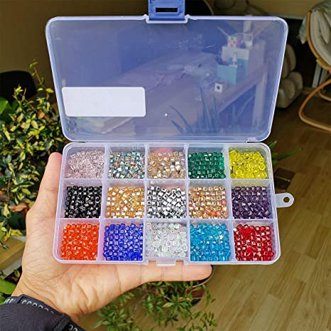 Beads Crystal Beads Fit Jewelry Wholesale Loose DIY 6mm Making Cube 4mm Glass