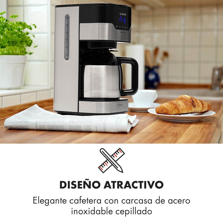 Klarstein Arabica Cafetera - Potencia: 800 W, Capacidad: 1,2 ...