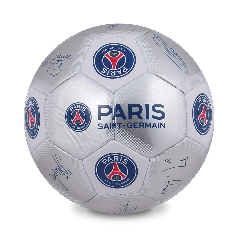 Paris St Germain Kids ps04548 Firma fútbol, Plata, tamaño 5 ...