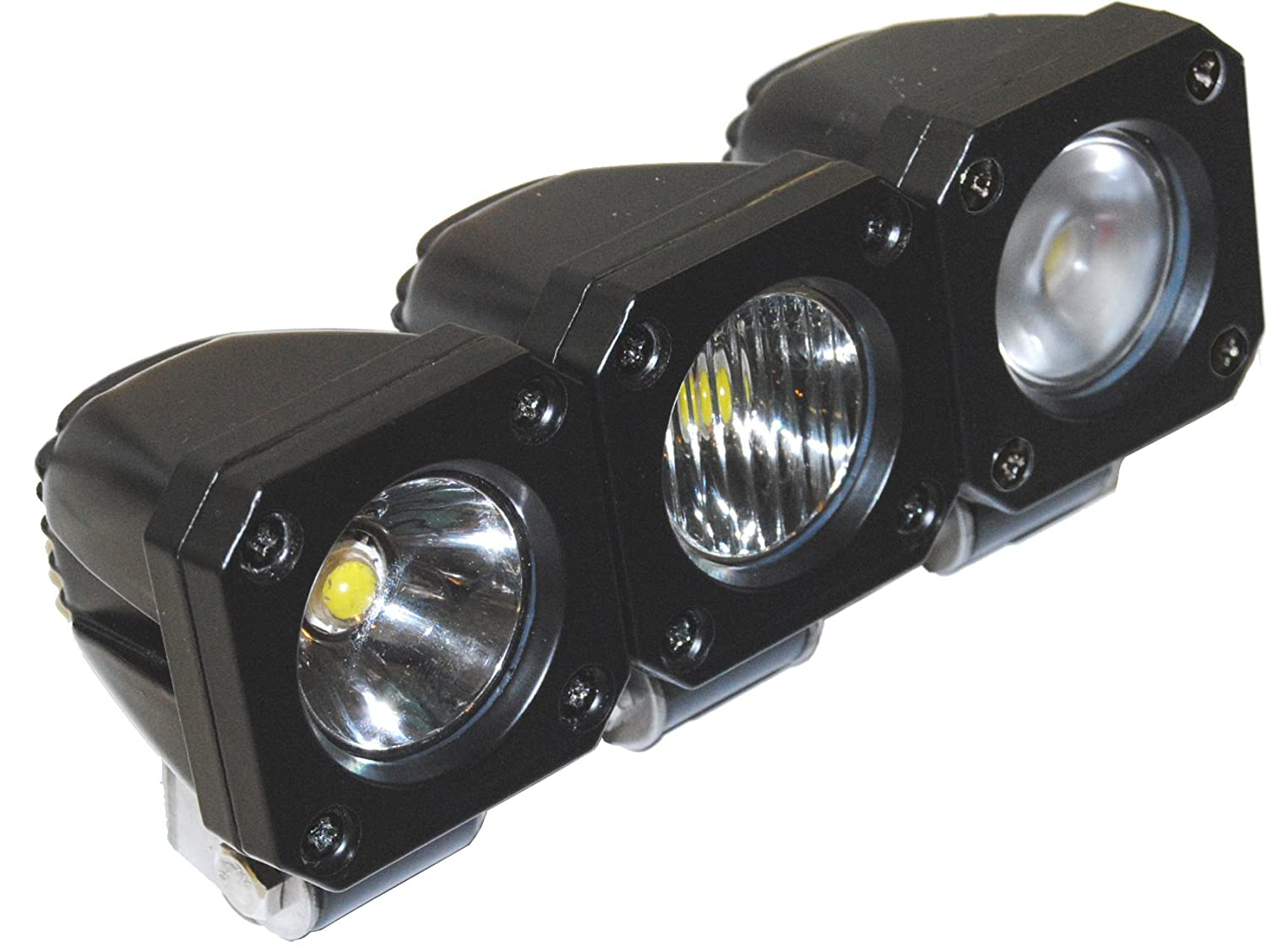 """Amazon.com: Jammy Sol Series One - One Piece 2""""x2"""" 800 Lumen LED Light for  Off Road Aux Work Lamp with Euro / Spot / Flood Beam: Automotive"""