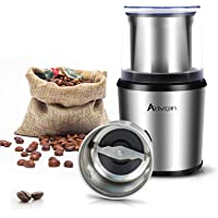 ADVWIN Coffee Grinder, Stainless Steel Blades Dry Coffee Spice Grinder with Removable Cup, 200W Electric Mills for…