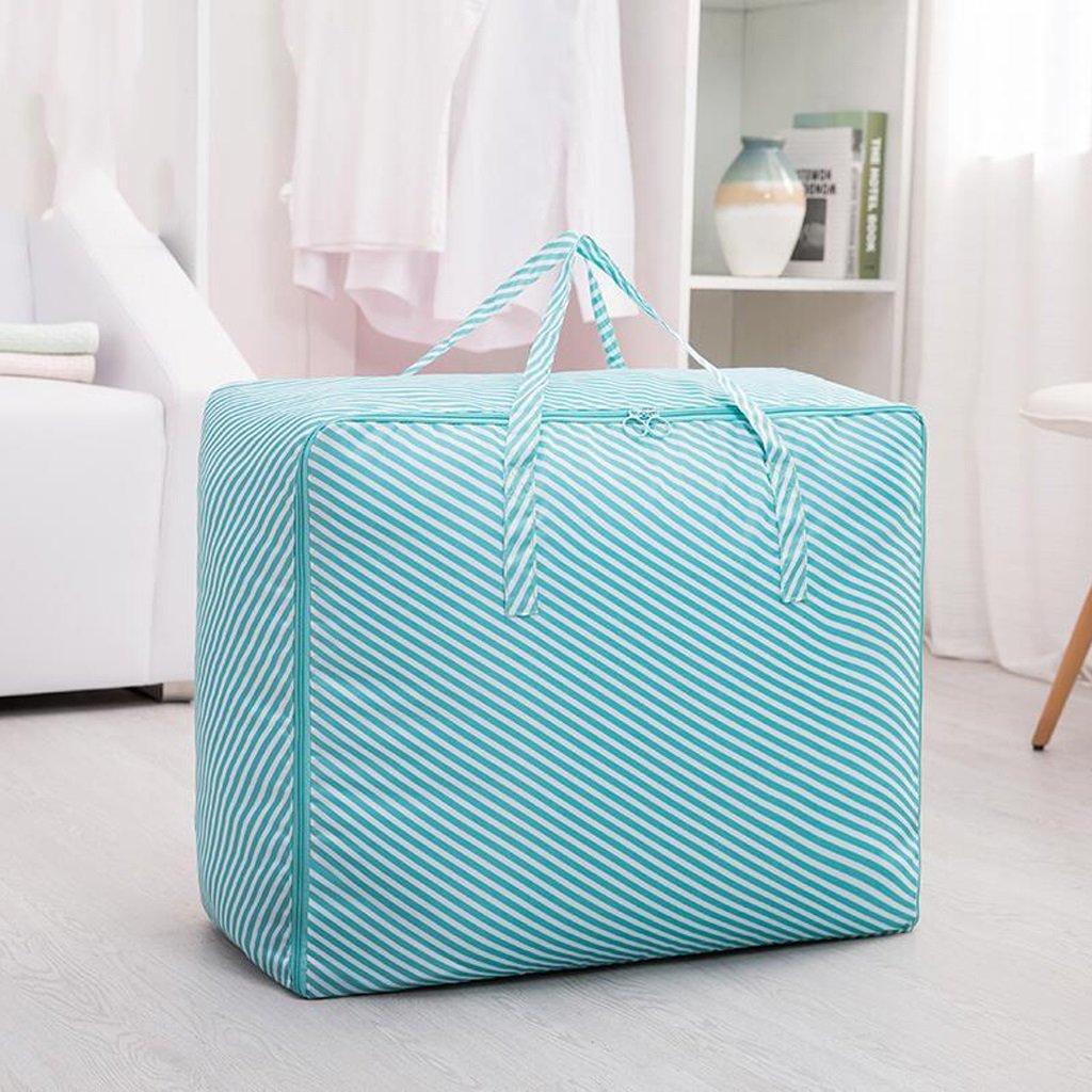 Xuan - Worth Another Blau Oblique Stripes 3 Stück Eine Tasche mit Quilts Feuchtigkeit Kleidung Quilts Tasche Finishing Bag Aufbewahrungsbox (größe   60  50  28cm)