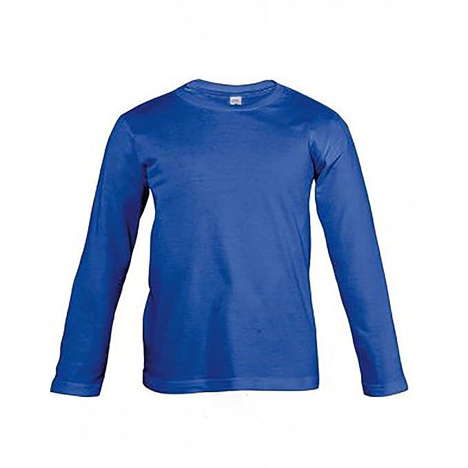SOLS - Camiseta de manga larga lisa modelo Vintage para niños (12 años/Azul