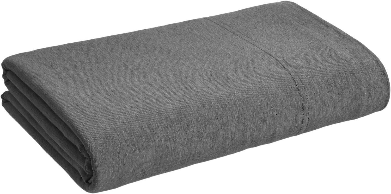 180 x 260 Basics Drap en jersey chin/é Gris fonc/é 10 cm