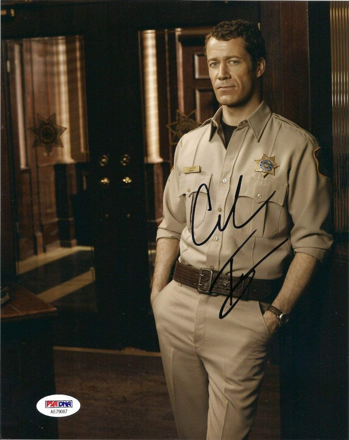 Authentic Autographed Jack Carter Colin Ferguson As 8x10 Photo Eureka Tv Show PSA DNA