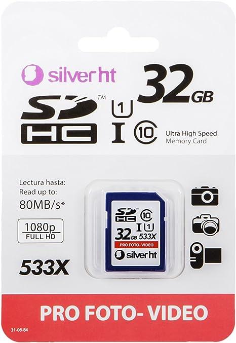 SilverHT Premium - Tarjeta de memoria SDHC de 32 GB: Amazon.es ...