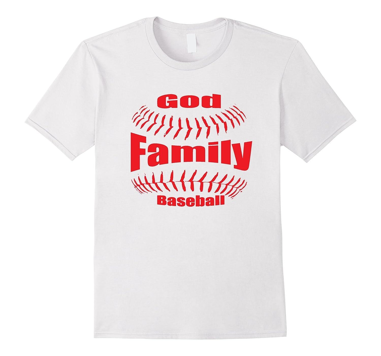 God, Family and Baseball Christian Shirt