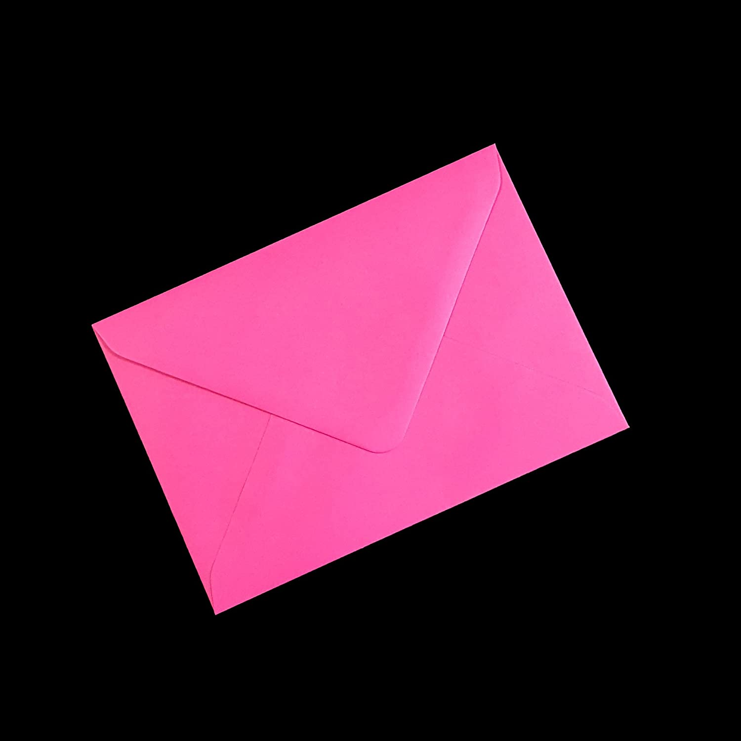 10 DL (110x220mm) Fuschia Pink Coloured Envelopes - Packed by the CandyRushTM Charity - (approx. 4x8.5