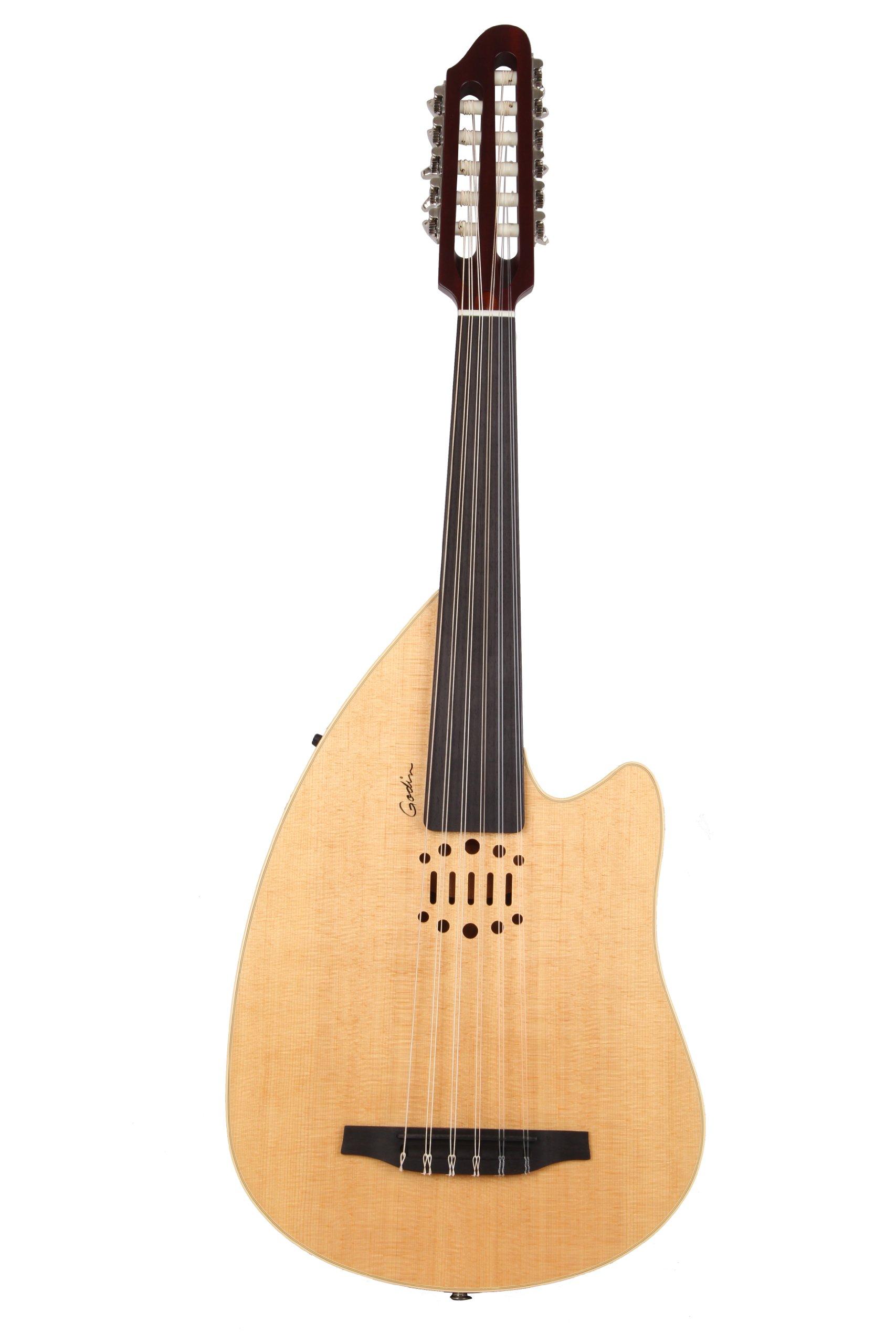 Godin Guitars Multi Oud Series 035014 10-Strings Hollow-Body Electric Guitar, Natural HG