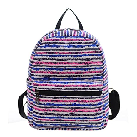 Mini lienzo mochila, PAWACA preescolar mochila de compras bolsa de hombro mochila para niñas niños
