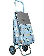 Chariot de courses Sabichi à deux roues - Motifs chats en folie