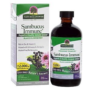 Nature's Answer Alcohol-Free Sambucus Immune Support, 8 Fluid Ounce