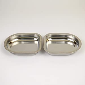 Set of 2 Extra Dishes to be Used with Your NomNom Food Bowl. Always Have a Clean Set Ready to go!