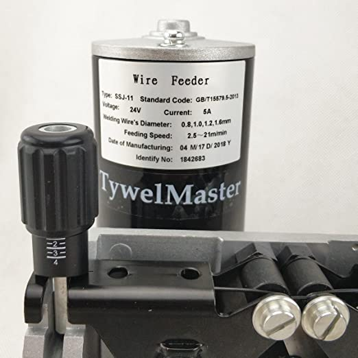 Welding Wire Feeder, DC 24V Wire Feeding Assembly, Wire Capacity 0.8-1.6mm/.031-.063