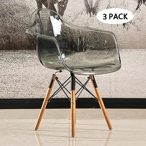 Amazon.com: MIMI KING - Juego de 3 sillas de comedor para el ...