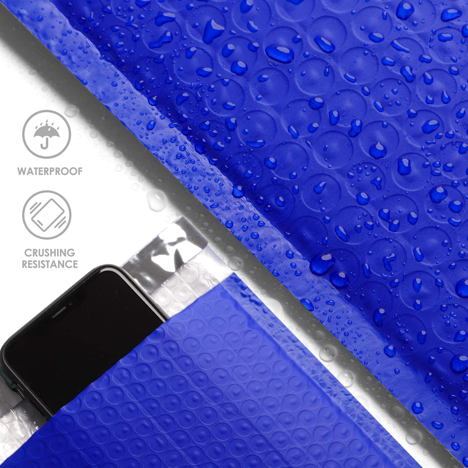 Metronic 25pcs Poly Bubble Mailers 8.5x12 Inch Padded Envelopes Bubble Lined Poly Mailer Self Seal Blue