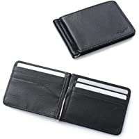 Zodaca Bifold Leather Wallet ID Card Business Card Case Credit Card Holder [Lightweight] [Travel-friendly] with…